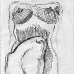 NUDO-STUDIO - 1995 disegno-matita, 29x42 cm.