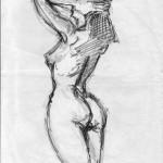 STUDIO PER NUDO - 1993, matita, 36x50 cm.