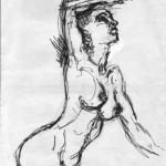 STUDIO PER NUDO 2 - 1993, matita, 36x50 cm.