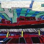 """""""DEA 1 """" - 1997, pennarelli-marker, 29x21 cm."""