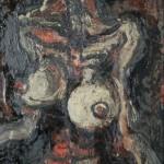 NUDO DI RAGAZZA D.- 1964, olio su tavola, 40x60 cm.