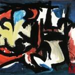 SENZA TITOLO - 1968, lacca su lesonite, 113x170 cm