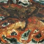 SENZA TITOLO - 1970, lacca su lesonite, 110x44 cm.
