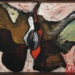SENZA TITOLO - 1966, olio su lesonite 70x52 cm