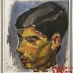 ritratto di ragazzo - 1963/64  olio su lesonite di cm 31x30
