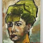 ritratto di ragazza - 1963/64  olio su lesonite di cm 34x43