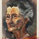 ritratto della Sgnora B. - 1964  olio su tavola di cm 31x37