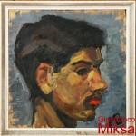 ritratto di ragazzo - 1963/64  olio su lesonite di cm 28x33