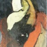 NUDO VERTICALE II - 1968, olio su lesonite, 45x190 cm.