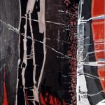 SBARCO-ANTIFAULING - 1985 Tecnica mista, 70x116 cm.