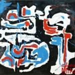 ASTRAZIONE 3 - 1970/71, lacca su lesonite, 174x170 cm