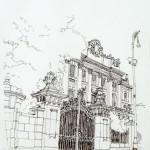 PALAZZO DEL GOVERNO - 1983, disegno, china 37x42 cm.