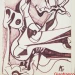 NUDO 2 - 1967, pennarello, 34x41 cm.