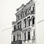 HOTEL IMPERIAL ABBAZIA - 1984, disegno, china, 32x30 cm