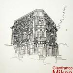 PALAZZO DELLA BANCA FIUMANA - 1983, disegno, china, 31x36 cm.