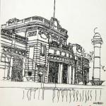 HOTEL KVARNER ABBAZIA - 1984, disegno, china, 25x32 cm.