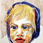 RITRATTO DI GIANFRANCO - 1981, pastelli a cera, 40x52 cm.