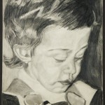 DAVIDE II - 1976, matita, 36x50 cm.